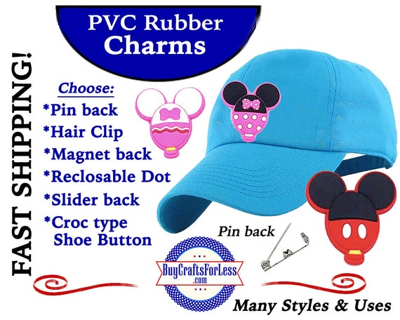 PVC Charms, MOUSe BALLOON CHaRMs * 20% OFF Any 4 PvC Charms+ShipFREE *Choose back-Button, Pin, Slider, Hair Clip, Reclosable Dot, Magnet