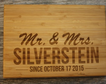 Last Name - Last Name Cutting Board - Last Name Gift - Personalized Wedding Gift - Personalized Cutting Board