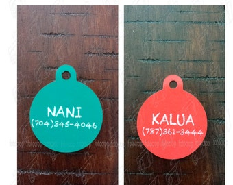Personalized Pet Tag Custom Dog Circle Cat with Pet Name Phone Number ID New!