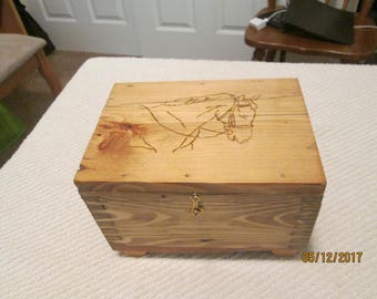 Small wooden box for jewelry or other keepsakes