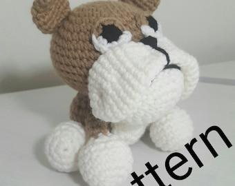Amigurumi Bulldog Crochet Pattern PDF Instant Download/ Amigurumi Pattern/ Crochet Pattern