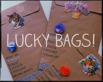 Lucky Bags ~ Every bag with original art & more