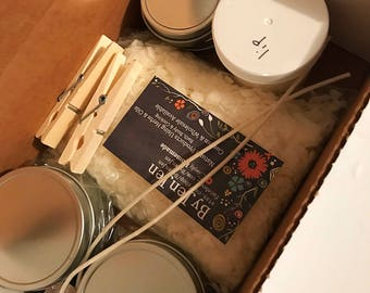 DIY Kit, DIY Candle & Lip Balm, Soy Candle, Birthday Gift, Craft Kit, Craft, Make Candles, Make Your Own, Container Kit, Candle Making