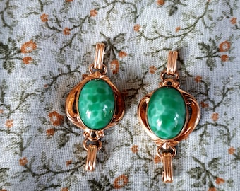 Matching Green Gemstone Pendants