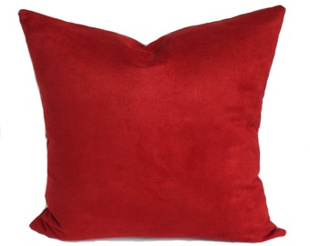 Valentine pillow cover, Red pillow cover, Red throw pillow, Valentines pillow, Red decorative pillow, Red accent pillow, 11 sizes available