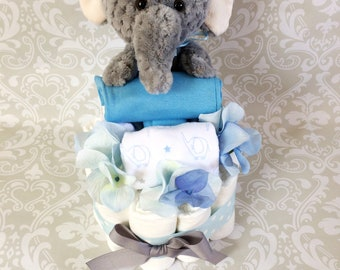 Baby Boy Diaper cake - One Tier cake - Made to Order
