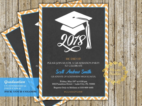 Graduation party invitations 2018 selol ink graduation party invitations 2018 filmwisefo