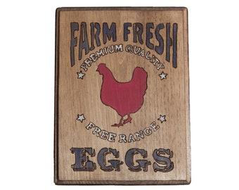 Farm Fresh Eggs Kitchen Plaque