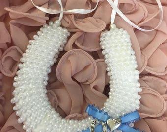 PERSIA - Pearl Horseshoe Good Luck Charm