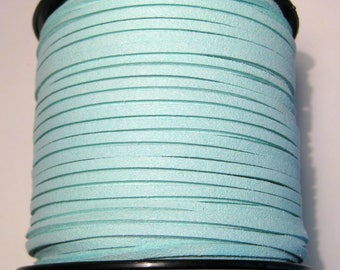 15ft Light Blue Faux Suede Cord 3mm ( No.085)