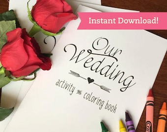 Wedding Coloring Book Printable Download - Children Kids Activity Book - Wedding Coloring Pages Favors - Reception Activities for kids