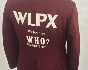 Vintage 1982 The Who/WLPX Concert Blazer-Burgundy-Size 39 Short