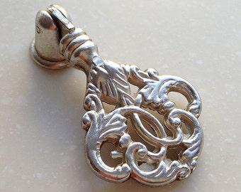 Antique Silver Dresser Pull Drop Ring Handle Dresser Pulls Handles / Cabinet  Knobs Handle Pull Knob Furniture Hardware LJ029