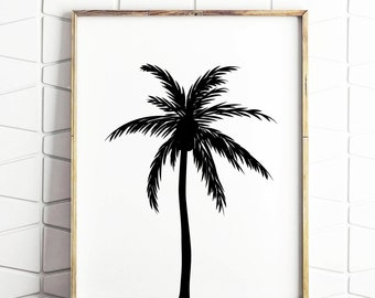 Palm Tree impression numérique instantanée Art INSTANT DOWNLOAD Printable Wall Decor