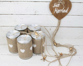 Car decoration etsy tin can wedding car decorations rustic car decoration wedding decoration wedding car decorations junglespirit Choice Image