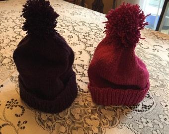 Hand knit touque