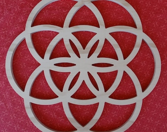 Seed of Life Wood Wall Hanging