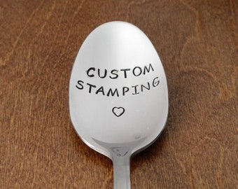 Custom Hand Stamped Spoon, Engraved Spoon Personalized Spoon, Unique Birthday Gifts For Dad Gift For Mom Gift For Him For Her Christmas Gift