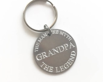 Valentine's Day Gift for Grandpa, Actual Drawing Key Chain, Personalized Signature Jewelry, Real Handwriting Keychain, grandpa gift for him