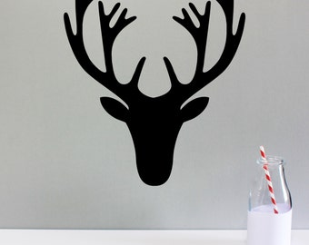 WALL STICKER moose silhouette - made to order & available in 19 bright colours