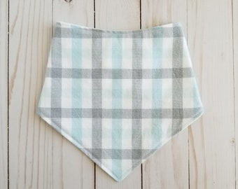 Baby Bandana Bib, Blue and Grey Bib, Drool Bib, Bibdana, Bandana Bib, Baby Boy, Baby Accessories