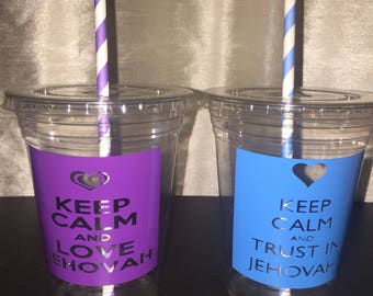Keep Calm Jehovah Cups, Meeting Cups, JW gifts, Love Jehovah Cups, Event Cups, JW org