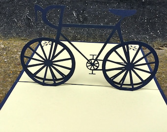 Pop Up Bike, pop up cards -Pop Up Bicycle Card - Bike Pop Up Card - Cycle Pop Up Card - Pop Up Birthday Card