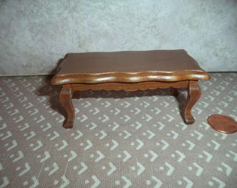 1:12 scale Dollhouse Miniature Coffee Table ( Light Walnut Color)