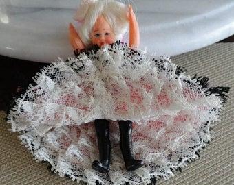 C734)  Vintage Can Can Dancer Doll  rockette
