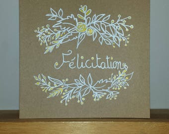 "Folded greeting card ""Congratulations"""
