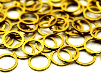 50 pcs 0.80x10 mm Raw Brass Round Charms ( 20 gauge )