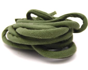 Cord of green silk, 5 mm thick, set of 2.20 meter
