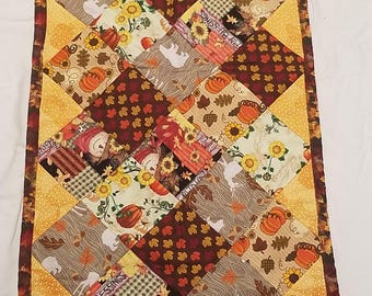 Cornucopia Fall Table Runner