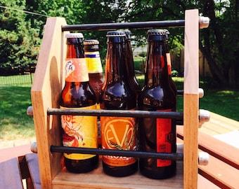 Beer Caddy; Industrial Beer Caddy; Beer Carrier; Beer Tote; Industrial Decor