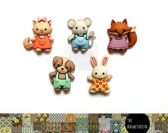 Critter Magnets [Fridge Magnets, Fridge Magnet Sets, Refrigerator Magnets, Magnet Sets, Office Decor, Kitchen Decor, Magnetic Board]