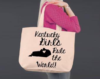 Kentucky   Bridesmaid Tote   Tote Bag   Canvas Tote Bag   Beach Tote   Canvas Tote   Shopping Tote   Shopping Bag   Korena Loves