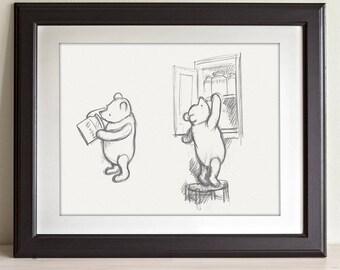 Honey - Winnie the Pooh 11x14 Unframed Nursery Art Print