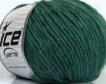 Peru Alpaca Worsted Yarn Green #48981 Ice Merino Wool Alpaca Acrylic 50g 98y