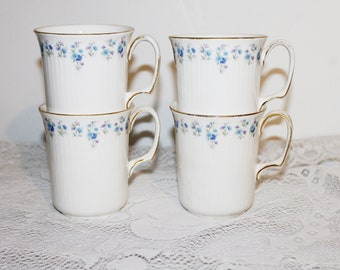 Royal Albert Memory Lane Set of 4 Ribbed Coffee Mugs