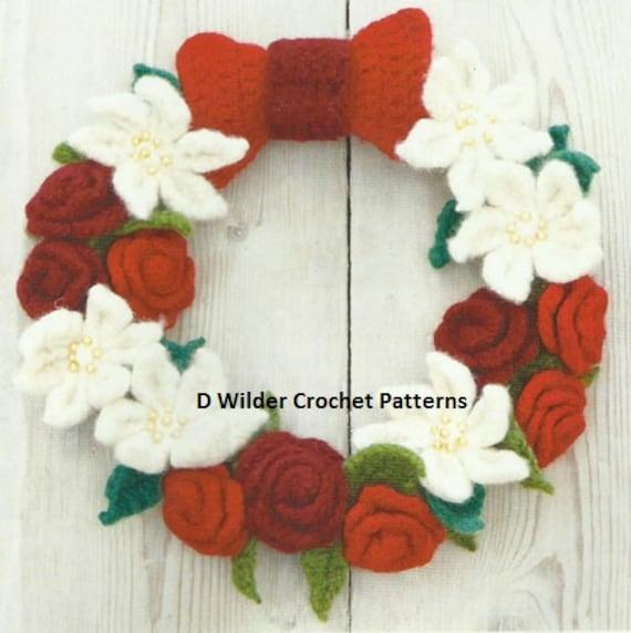 Crochet Christmas Wreath Crochet Pdf Pattern Instant Download