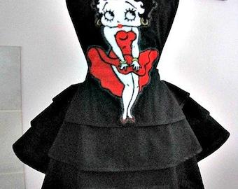 Apron # 1256 - Betty Boop layered retro apron