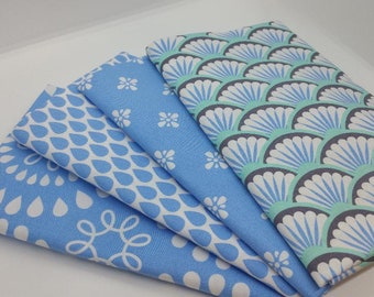 FINAL FRIDAY SALE - #5 Blue & White 4 Yard Bundle From Harper Collection By Michael Miller - 4 Fabrics