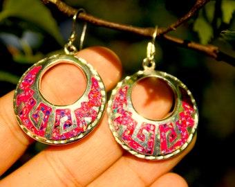 Fire Opal Earrings