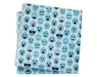 Pocket Square - Brain Emoji - Blue
