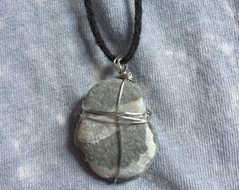 Handmade, Necklace, Wire Wrapped, Stone, Boho, One of a Kind, Natural