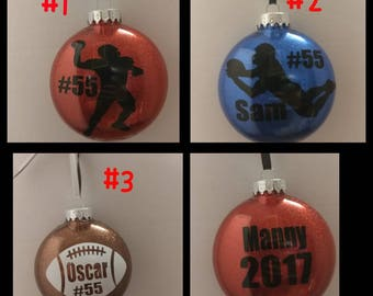 Football ornament **free shipping**