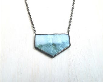 Winter Forest Geometric Pendant