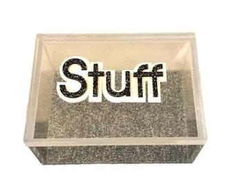 Stuff Acrylic Lucite Box