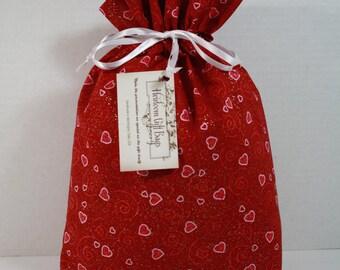 Cloth Gift Bags Fabric Gift Bags Drawstring Bags Handmade Reusable Eco Friendly Medium Size Bag