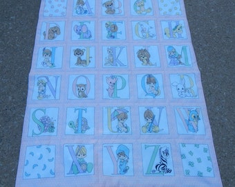 Baby Blanket - quilted - 33 x 44 - Crib Size - Free Shipping